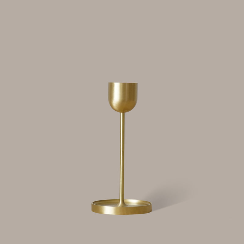 Fountain Brass Candle Holder - Large
