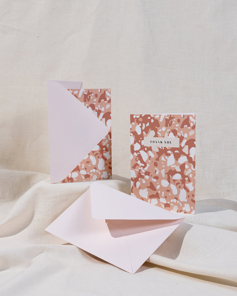 Mottle Thank You Card