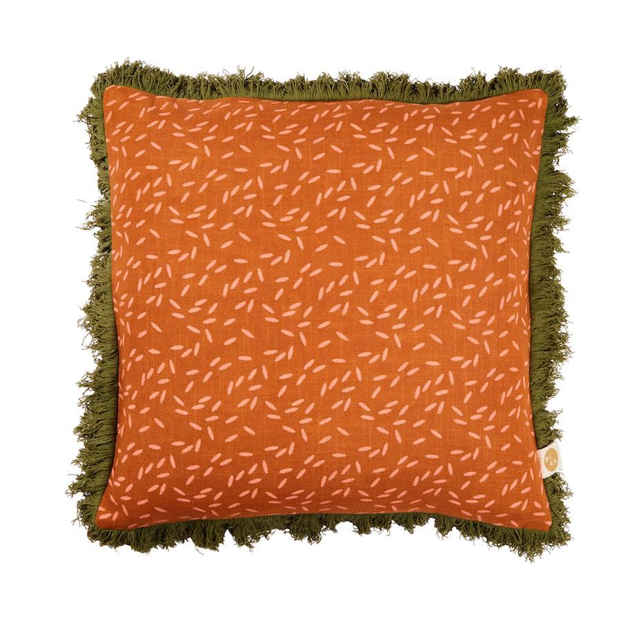 sage and clare - padang cushion in ochre