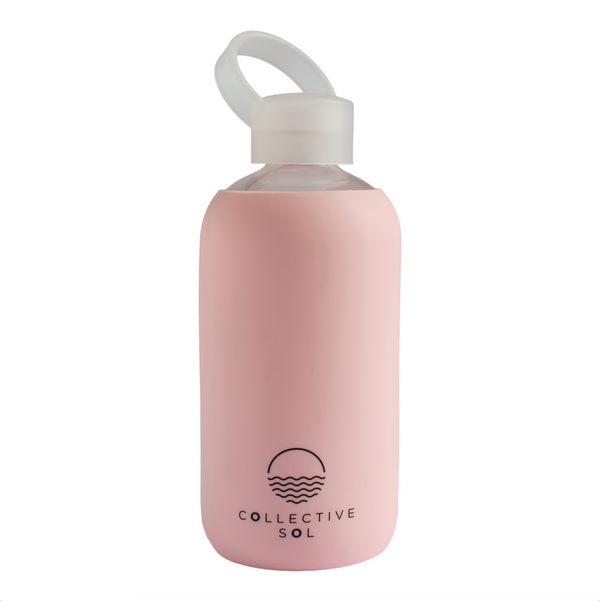 Acqua Glass Water Bottle - Pink - LAST ONE!