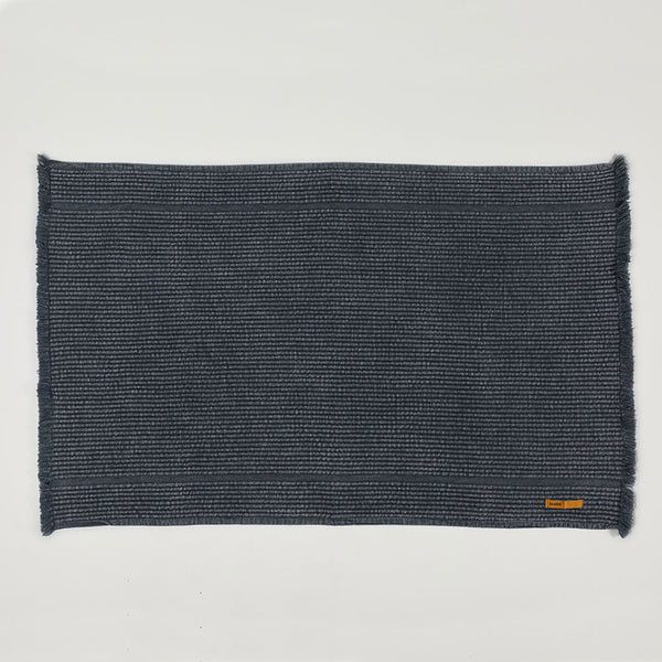 Vintage Wash Bath Mat - Charcoal