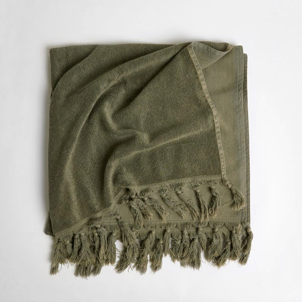 Vintage Wash Towel - Olive
