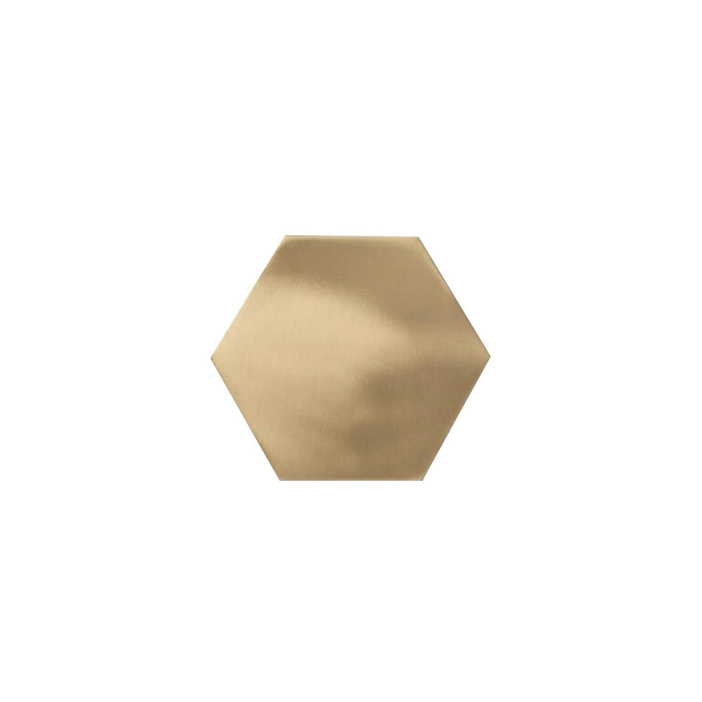 Brass Hexagon Coasters - Set of 4