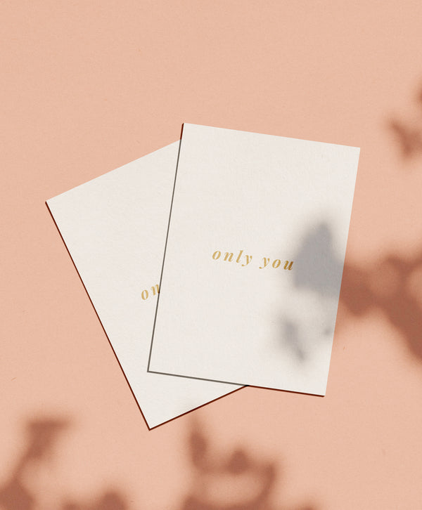 OHEMGEE Paper - only you greetings card