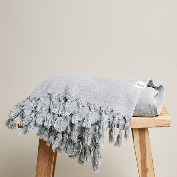 Vintage Wash Blanket - Pale Grey