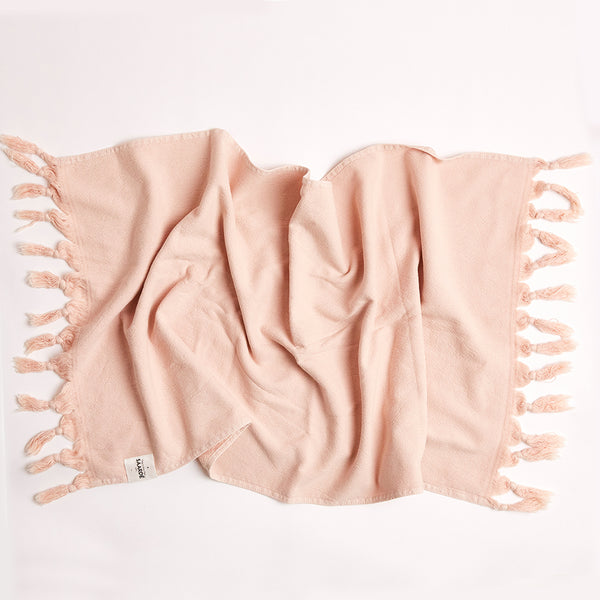 Vintage Wash Towel - Dusty Pink