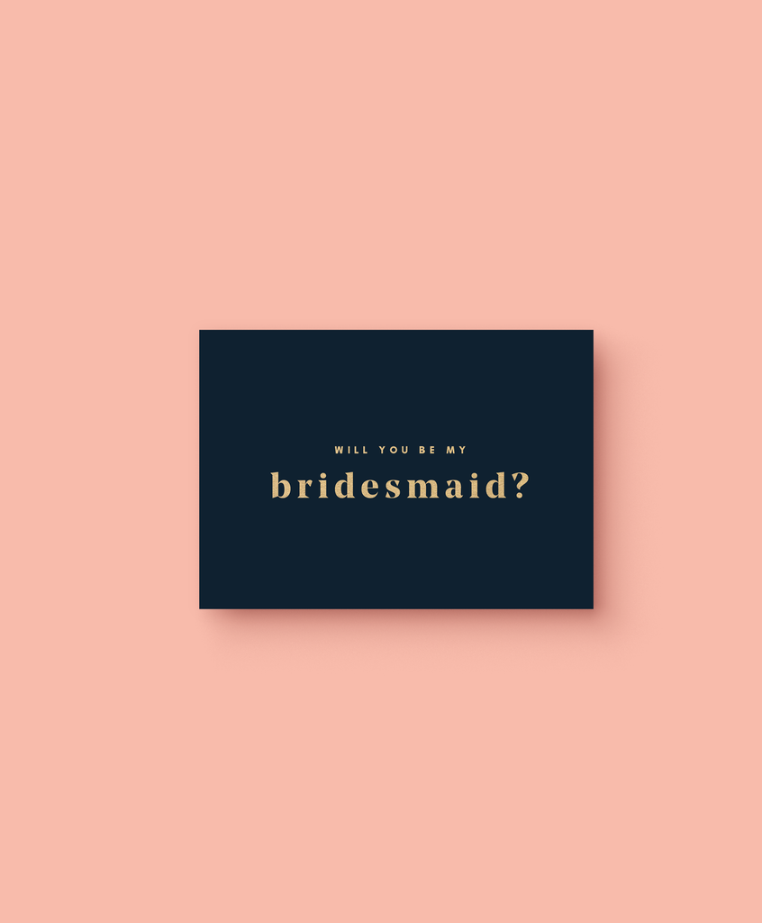 OHEMGEE Paper - Will You Be My Bridesmaid? greetings card