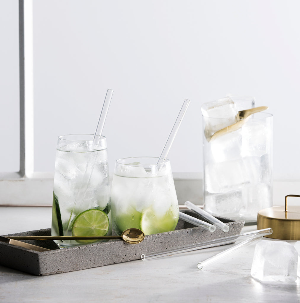 Zakkia Homewares - Glass Drinking Straws pack of 6