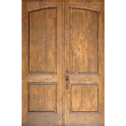 "Krosswood Knotty Alder 1-3/4"" 2 Panel Common Arch Interior Double Doors Interior Doors Krosswood 72"" Wide x 80"" Tall x 1-3/4"" Thick (6'-0"" W x 6'-8"" H)"