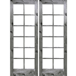 Krosswood Knotty Alder 12 Lite With Low-E IG Exterior French Doors Exterior Doors Krosswood