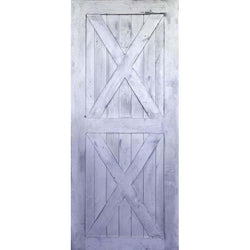 "Krosswood Knotty Alder 2 Panel Double X Solid Wood Core Barn Door Slab Interior Doors Krosswood 24"" Wide x 84"" Tall x 1-3/4"" Thick (2'-0"" W x 7'-0"" H)"