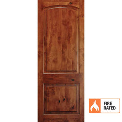Krosswood Knotty Alder 2 Panel Top Rail Arch 20 Minute Fire Door Interior Doors Krosswood