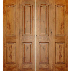 "Krosswood Knotty Alder 2 Panel Top Rail Arch Bi-Fold Double Doors Interior Doors Krosswood 60"" Wide x 80"" Tall x 1-3/8"" Thick (5'-0"" W x 6'-8"" H)*"