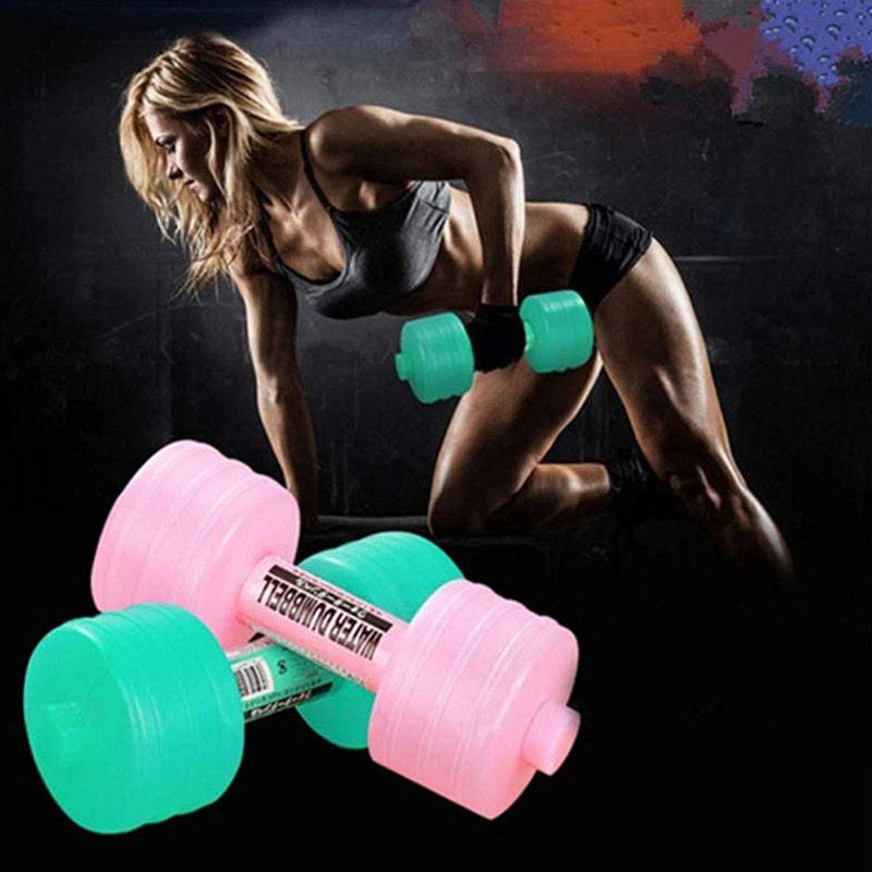 Dumbbel Body Building Water Dumbbell Women Children Yoga Training Sport Plastic Dumbbell Exercise Equipment Weight Loss Slimming