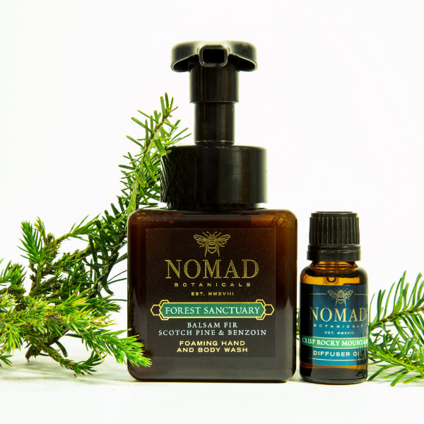 Forest Sanctuary Hand & Body Wash + Crisp Rocky Mountains Diffuser Oil