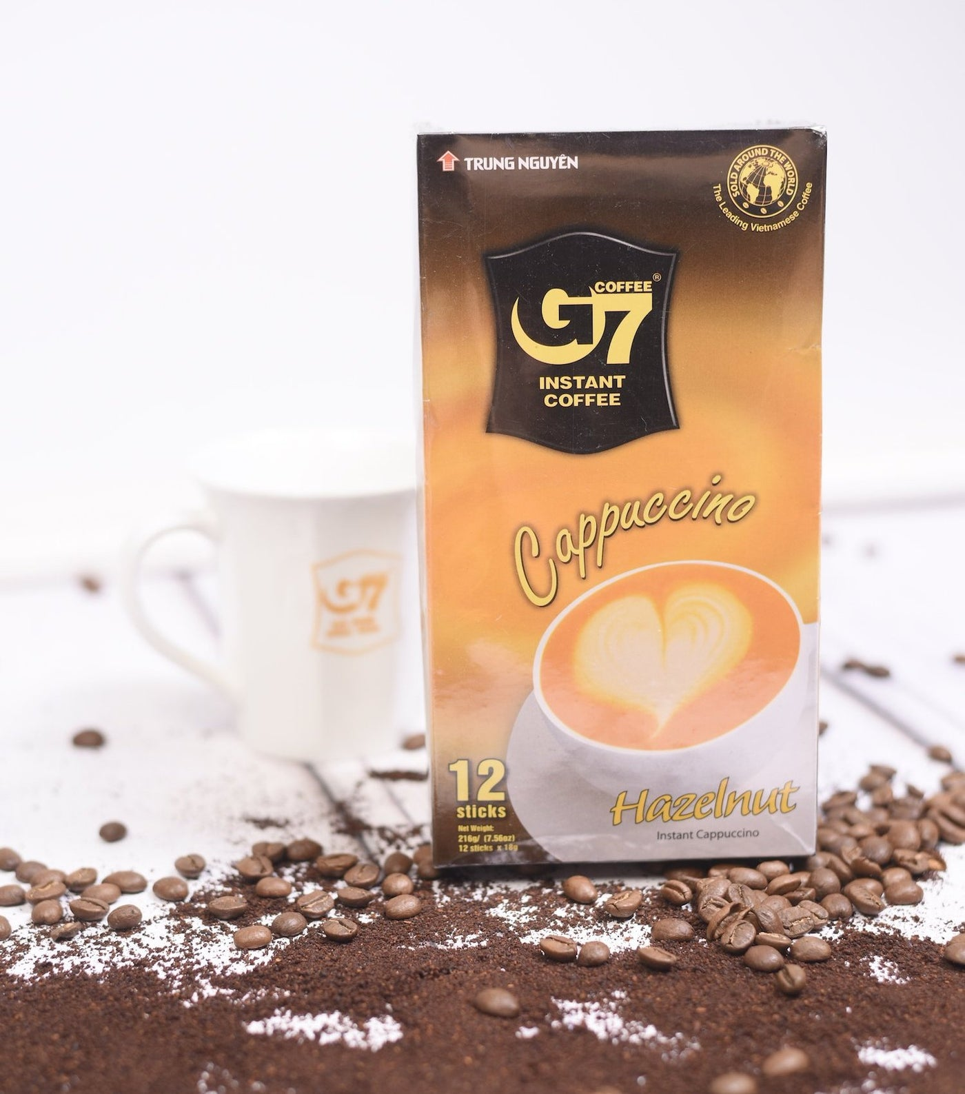 G7 Cappuccino hazelnut - 12 Sticks