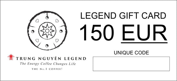 LEGEND GIFT CARD - FREE COFEE FOR 51 EUR!