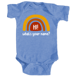 What's Your Name? Baby Onesie