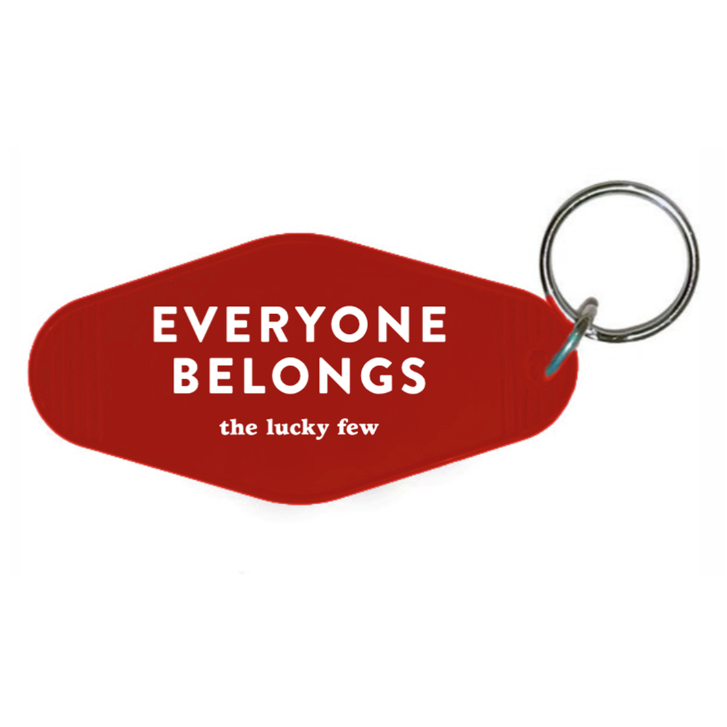 Everyone Belongs Keychain | Hotel-Motel Style | Red