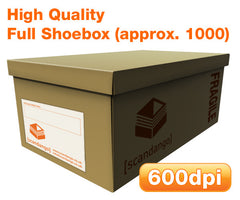 Scan a full shoebox of photos. High quality.