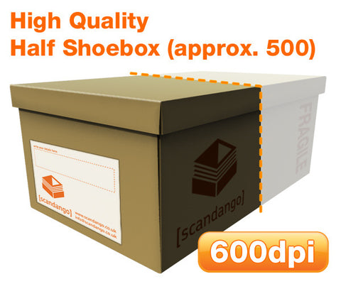 Scan a half shoebox of photos. High quality.