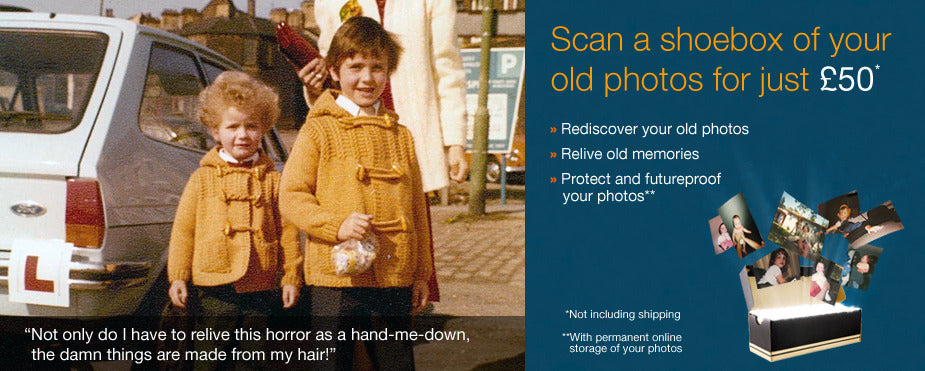 Scan old photos digitise your memories and protect them for the future. Scandango!