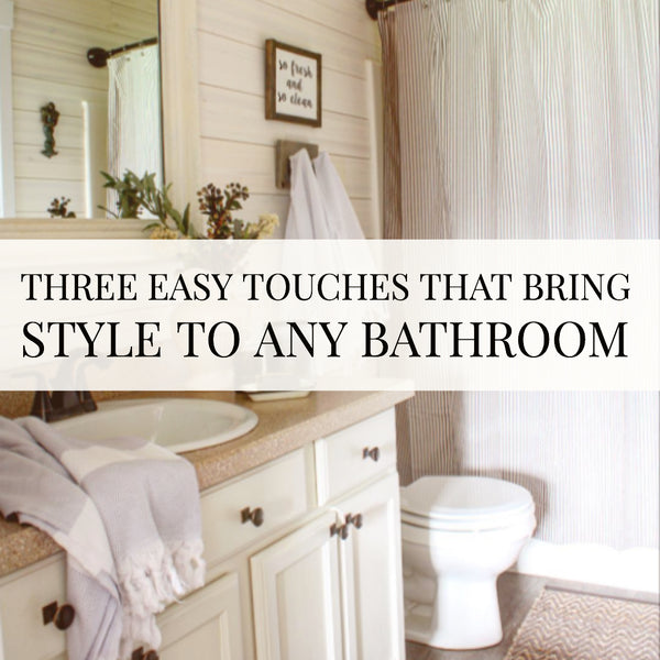 Three steps to a stylish bathroom