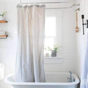 Southern Ticking Co. Shower Curtain Ticking Stripe Shower Curtain