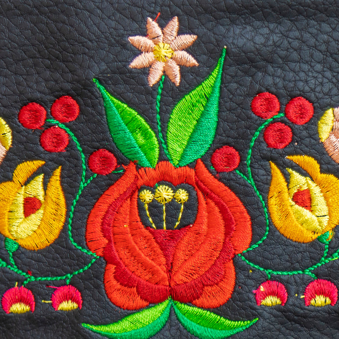 how to embroider on leather with embroidery machine