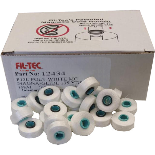 FIL-TEC PART NO 12434 P15L POLY WHITE MC MAGNA-GLIDE 135 YDS