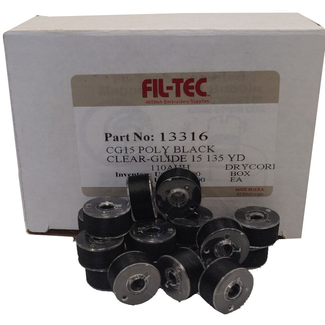 FilTec Part No 13316 CG15 POLY BLACK CLEAR-GLIDE 15 135 YD
