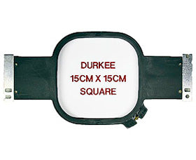"Durkee Janome MB-4 Compatible Hoop: 15cm Square (6""x6"") - 360 Sewing Field"