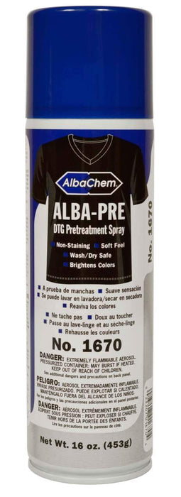Alba Chem 1670 ALBA-PRE DTG Pretreatment Spray