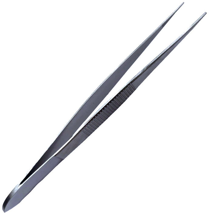 "4-1/2"" Deluxe Straight Tweezers with Stainless Steel Fine Points"