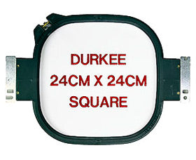"Durkee Janome MB-4 Compatible Hoop: 24cm (9""x9"") Square - 360 Sewing Field"