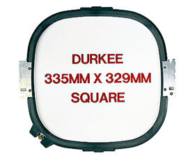 "Durkee Tajima Compatible Hoop: 335mm (12""x12"") Square - 360 Sewing Field"