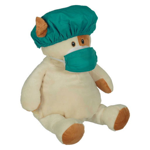70003 EB Green Hospital Hat & Face Mask Set