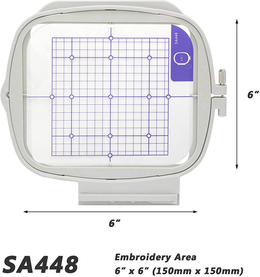 "SA448 (BLMA-150):  6"" x 6"" Embroidery Machine Hoop"