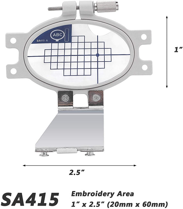"SA415 (EF30): 1"" x 2"" Extra Small Embroidery Machine Hoop"