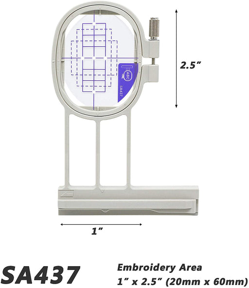 "SA437 (EF73): 1"" x 2.5"" Small Embroidery Machine Hoop"