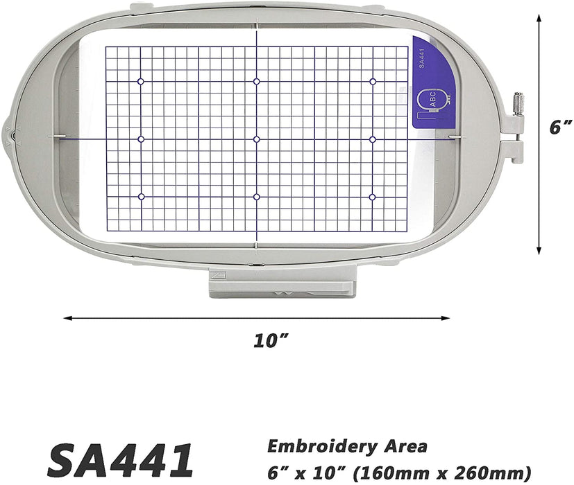"SA441 (EF81): 6"" x 10"" Extra Large Embroidery Machine Hoop"
