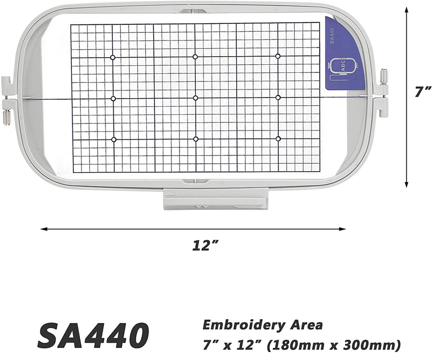 "SA440 (EF76): 7"" x 12"" Extra Large Embroidery Machine Hoop"