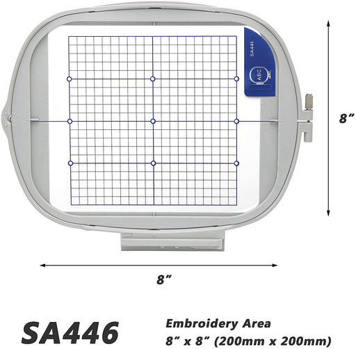 "SA446 (EF91):  8"" x 8"" Embroidery Machine Hoop"