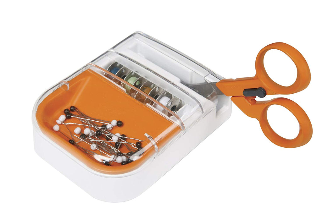 Fiskars Detail Scissors and Seam Ripper-in-one with Multipurpose Organizer