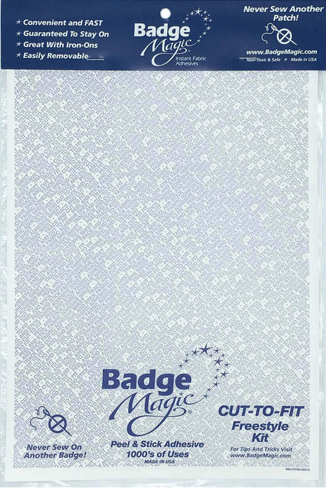 Badge Magic Patch/Fabric Adhesive - Cut-To-Fit Sheet