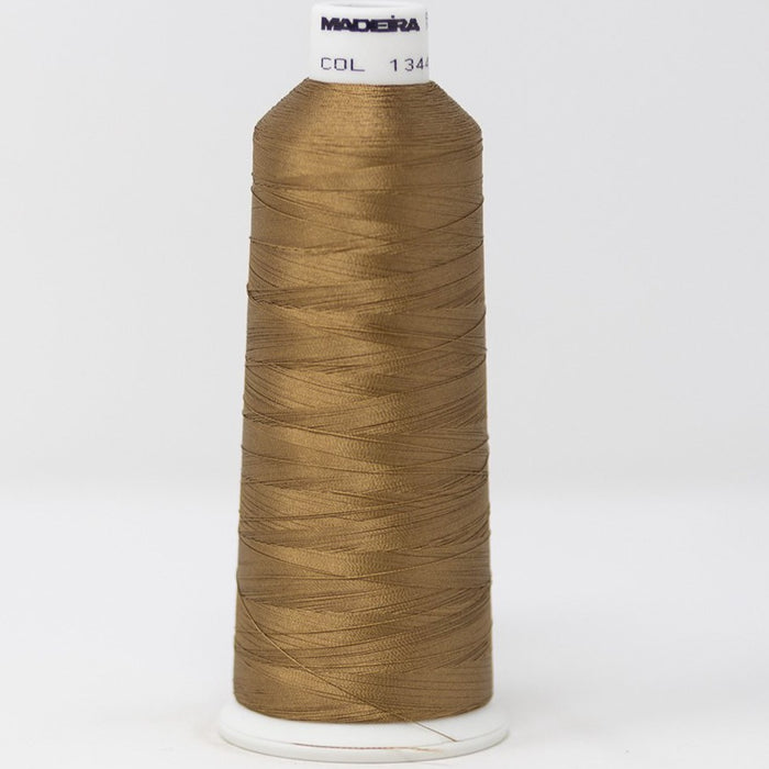 910-1344 5,500 yard cone of #40 weight Camel Brown Rayon machine embroidery thread