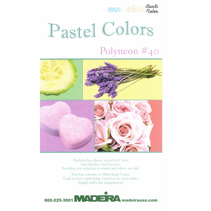 Madeira 12 Spool Polyester Thread Kit - Pastel Color Assortment