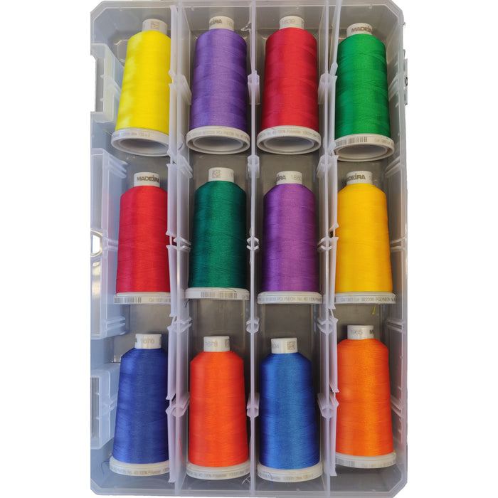 Madeira 12 Spool Polyester Thread Kit - Primary Color Assortment