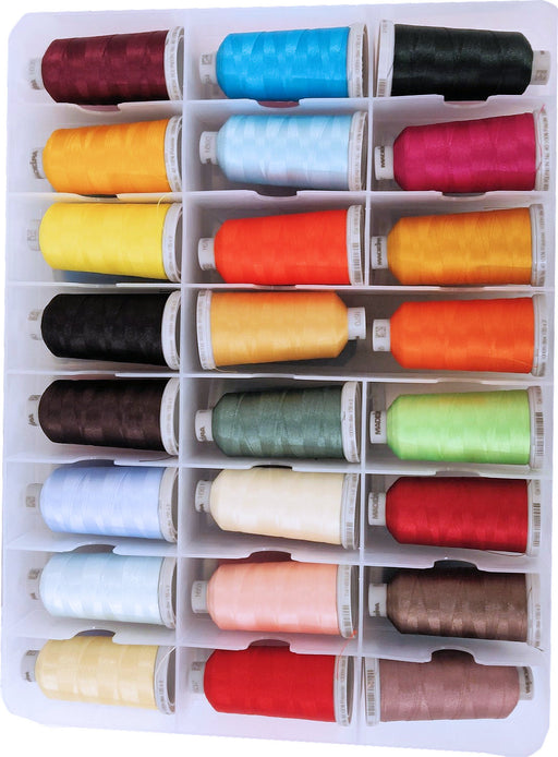 Madeira Polyester 48 Spool Thread Set W/Plastic Case