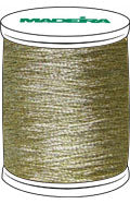 Madeira FS Metallic #40 Embroidery Thread - Spools 1,100 yds Gold 2 - Color 4002